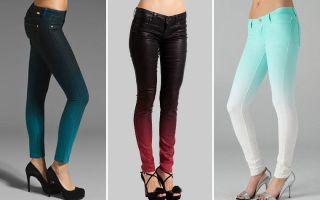 Красим чёрные и синие джинсы самостоятельно: выбираем краситель, действуем по инструкции, получаем результат
