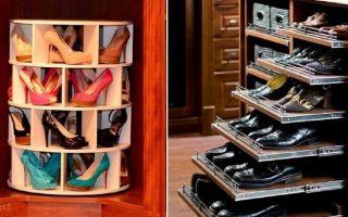 Способы хранения обуви в квартире: в шкафу, в коробках, органайзерах и даже на вешалках
