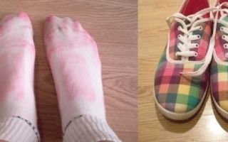 Что делать, если обувь красит ноги?