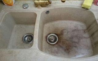 Как и чем почистить раковину из искусственного камня?