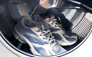 Стирка кроссовок в стиральной машине: режим, температура, моющее средство, сушка