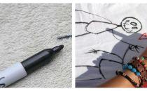 Чем вывести различные виды маркера с одежды?