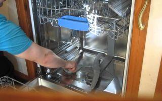 Чистка посудомоечной машины внутри самостоятельно