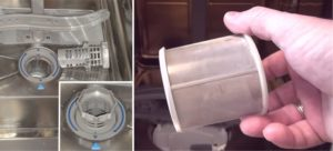 извлечение и мытье фильтра