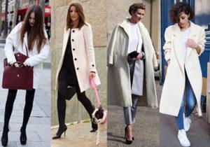 Девушки в светлых пальто