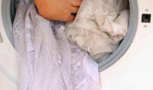 Тюль в стиральной машине
