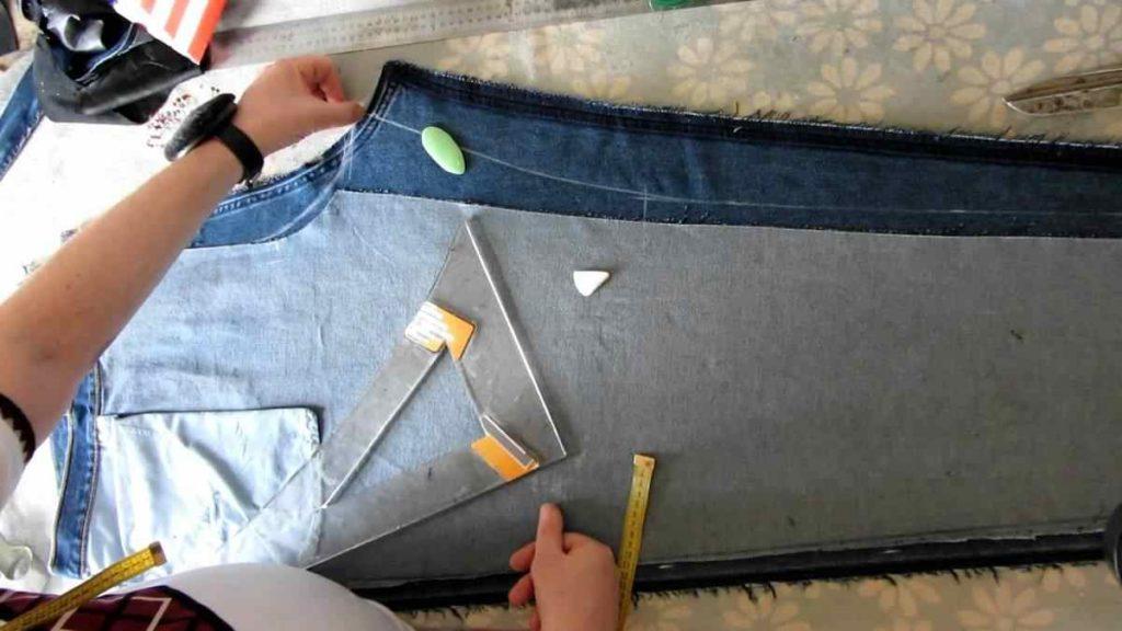 Ушивание джинсов