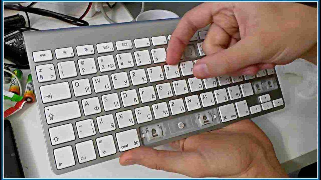 Снятие клавиш