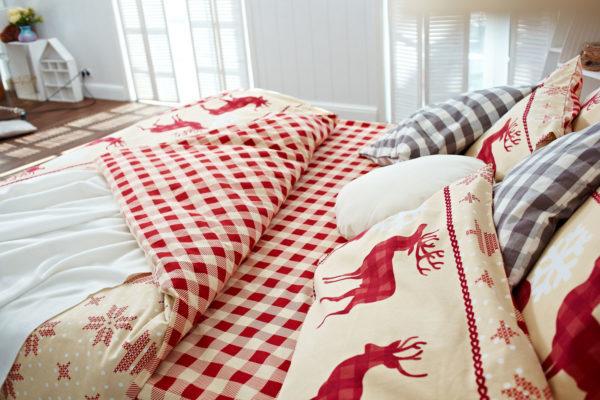 постель из фланели