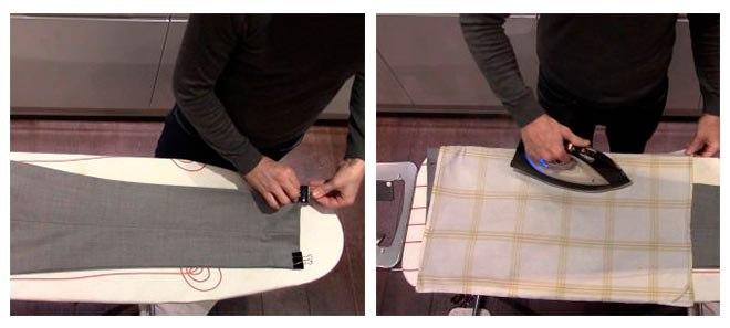 Создание стрелок на брюках