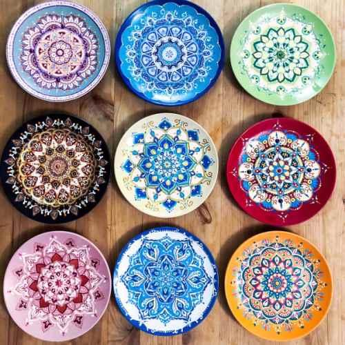 Посуда с ручной росписью
